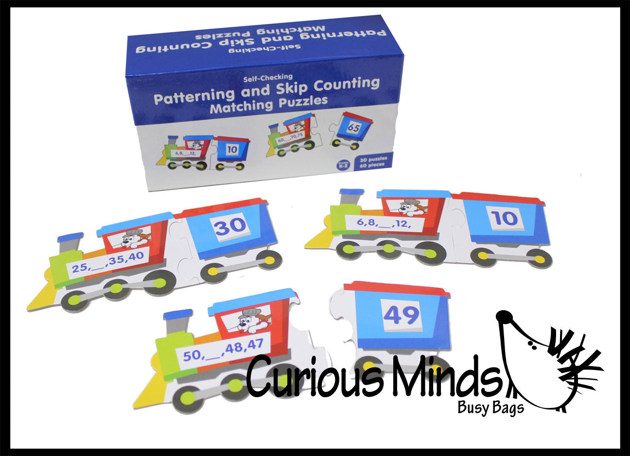 Number Patterns and Skip Counting Train Puzzle - Early Childhood Teacher Supply