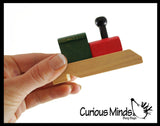 Wooden Train Whistle - Choo Choo Whistle - Wood Instrument for Kids Musical Toy