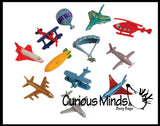 Miniature Aircraft Transportation Figurine Assortment - Planes Figurines Replicas