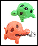 Turtle Squishy Water Bead Stress Ball - Mesh  Fun Fidget - Blob Webby Mesh Ball - Squishy Fidget Ball