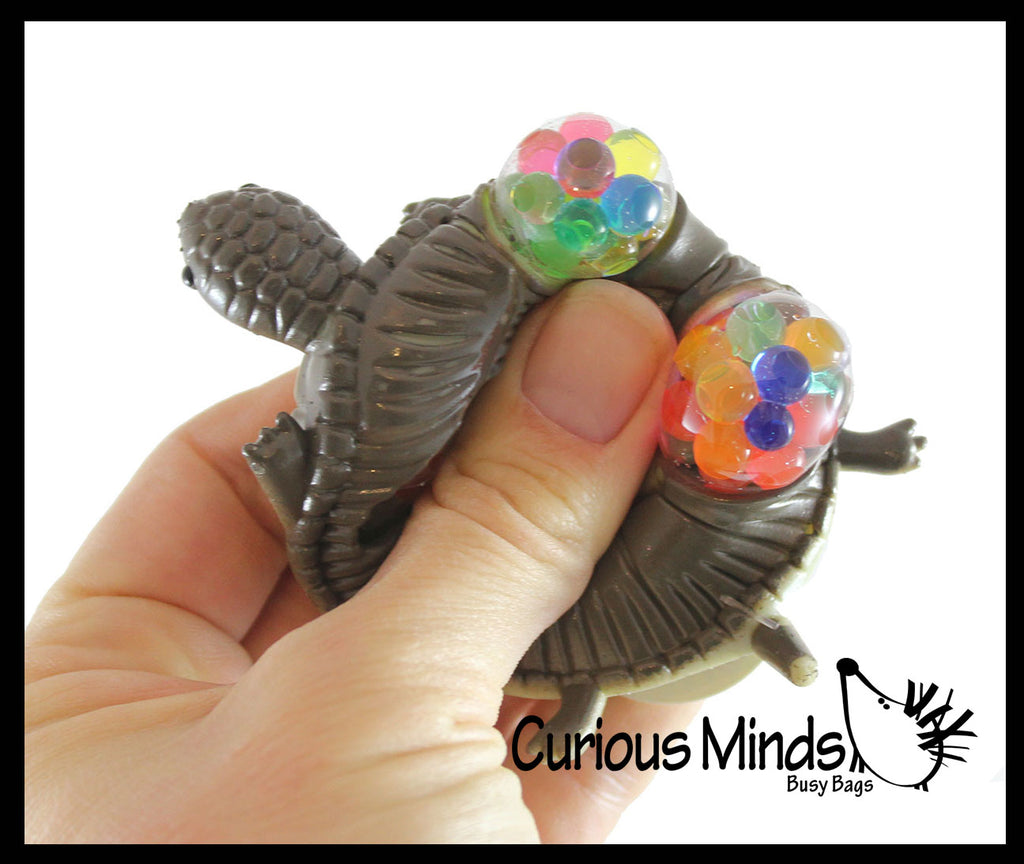 Soft Mesh Turtle with Water Beads Squeeze Stress Ball  -  Sensory, Stress, Fidget Toy