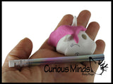 Unique 3D Unicorn Eraser With Pencil Horn - Eraser is Pencil Holder - Novelty and Functional Adorable Eraser Novelty Prize, School Classroom Supply