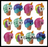Unicorn Ice Cream Cone Girly Magical Theme Squishy Slow Rise Foam -  Scented Sensory, Stress, Fidget Toy
