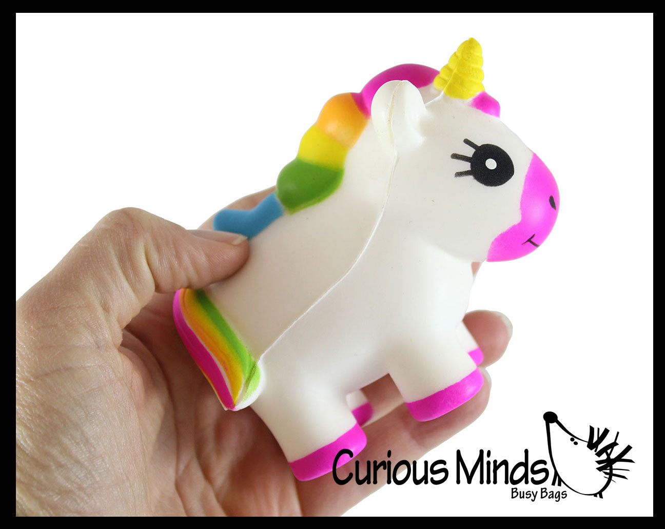 Unicorn Girly Magical Theme Squishy Slow Rise Foam -  Scented Sensory, Stress, Fidget Toy