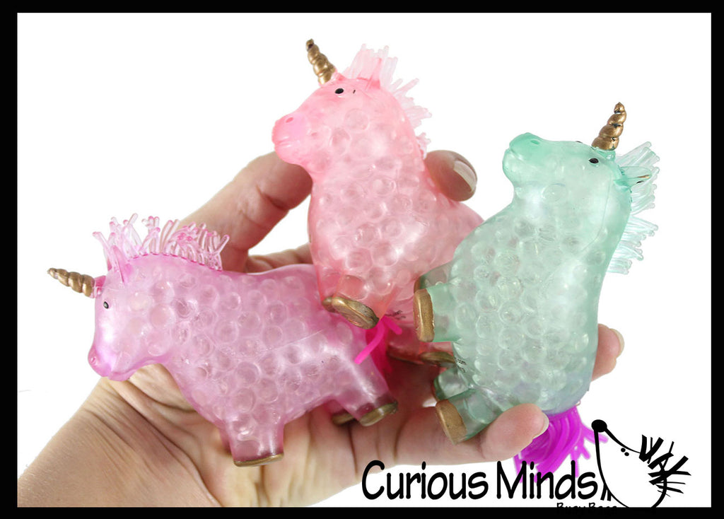 Unicorn Water Bead Filled Squeeze Stress Ball  -  Sensory, Stress, Fidget Toy