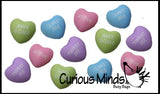 Mini Conversation Heart Stress Balls - Unique Valentines Day Cards for Kids