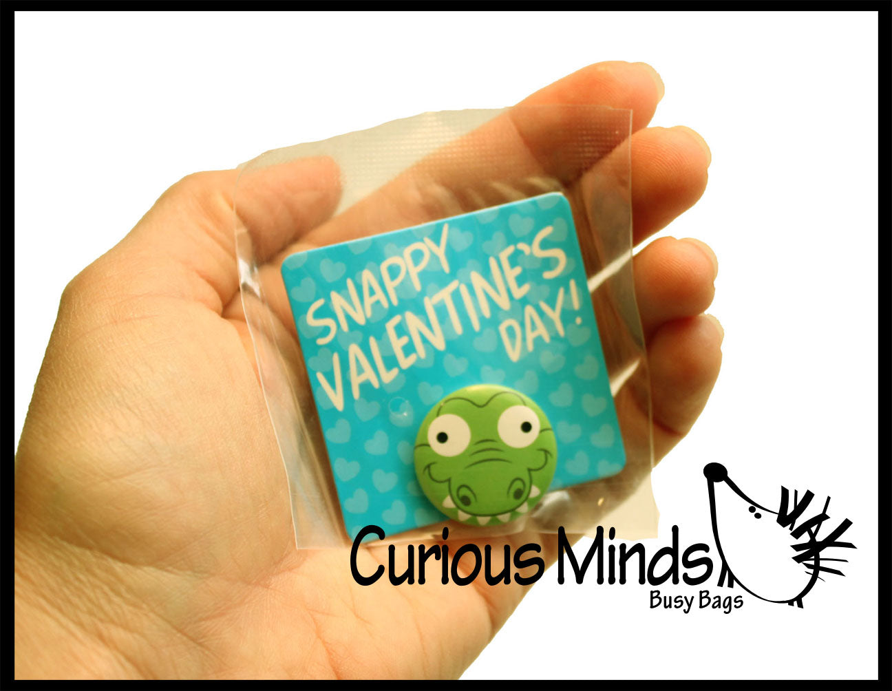 "Cute Animal Buttons Valentines Day Cards 2"" for Kids - Unique Pins"
