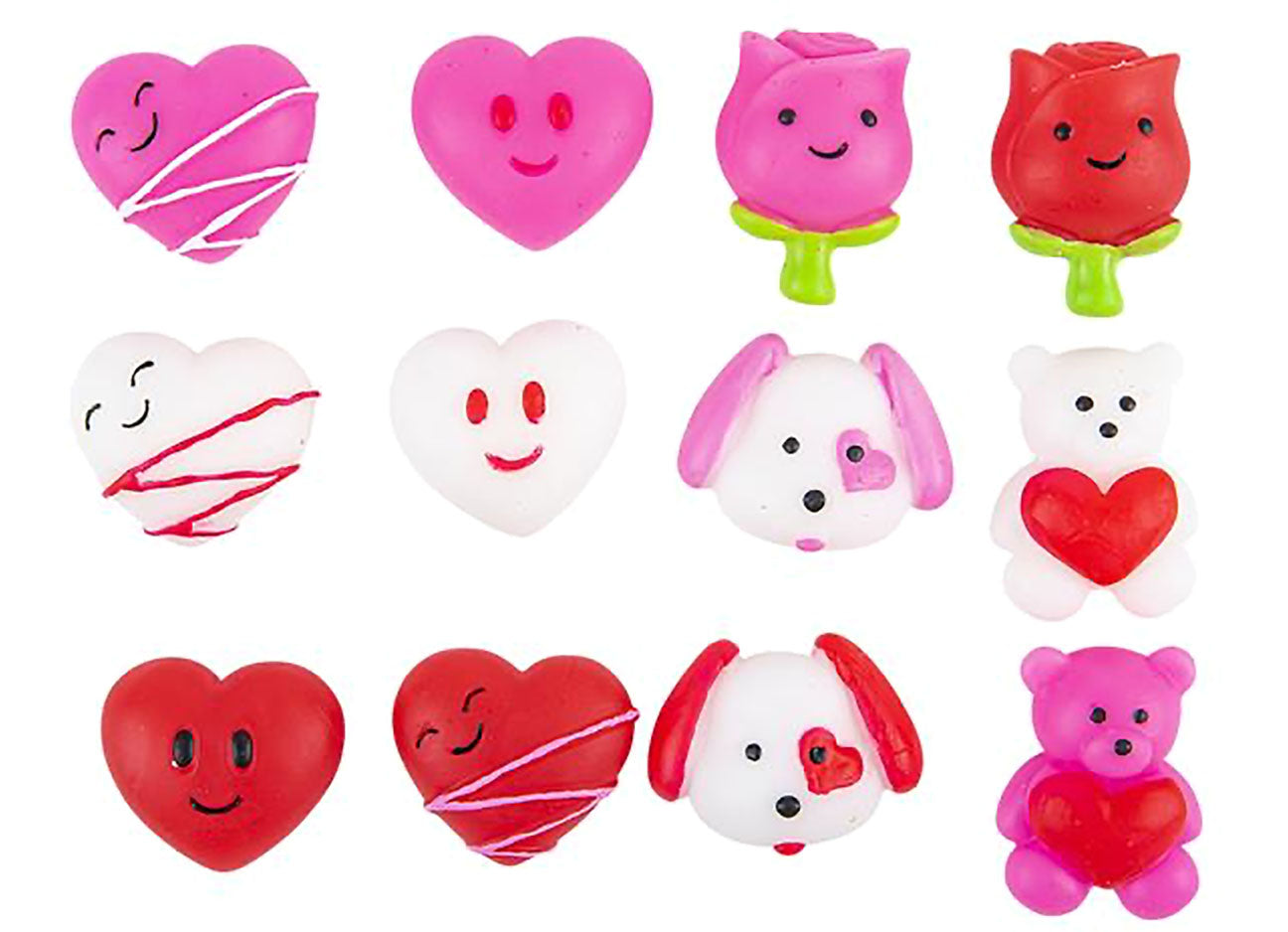 Valentine's Day Heart Mochi Squishy  - Adorable Cute Kawaii - Individually Wrapped Toys - Sensory, Stress, Fidget Party Favor Toy