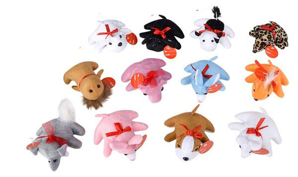 12 Valentines Day Plush Animals - Love Valentine Themed  - Unique Valentines Day Exchange Cards for Kids