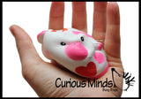 Valentine's Day Slow Rise Animals - Heart Love Valentine Gift-  Scented Sensory, Stress, Fidget Toy - Be My Valentine