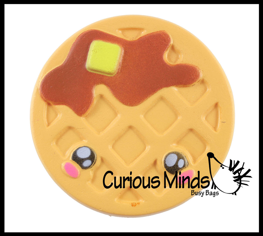 Waffle Squishy Slow Rise Foam Junk Breakfast Food -  Adorable Cute Scented Sensory, Stress, Fidget Toy