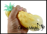 Pineapple Fruit Water Bead Filled Squeeze Stress Ball  -  Sensory, Stress, Fidget Toy