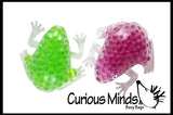 Large Frog Water Bead Filled Squeeze Stress Ball  -  Sensory, Stress, Fidget Toy