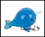 Narwhal Water Bead Filled Squeeze Stress Ball  -  Sensory, Stress, Fidget Toy