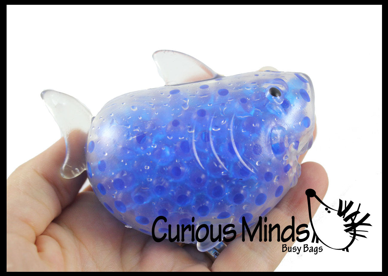 Shark Water Bead Filled Squeeze Stress Ball  -  Sensory, Stress, Fidget Toy