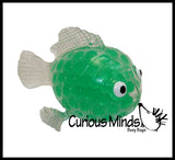 Fish Water Bead Filled Squeeze Stress Ball  -  Sensory, Stress, Fidget Toy
