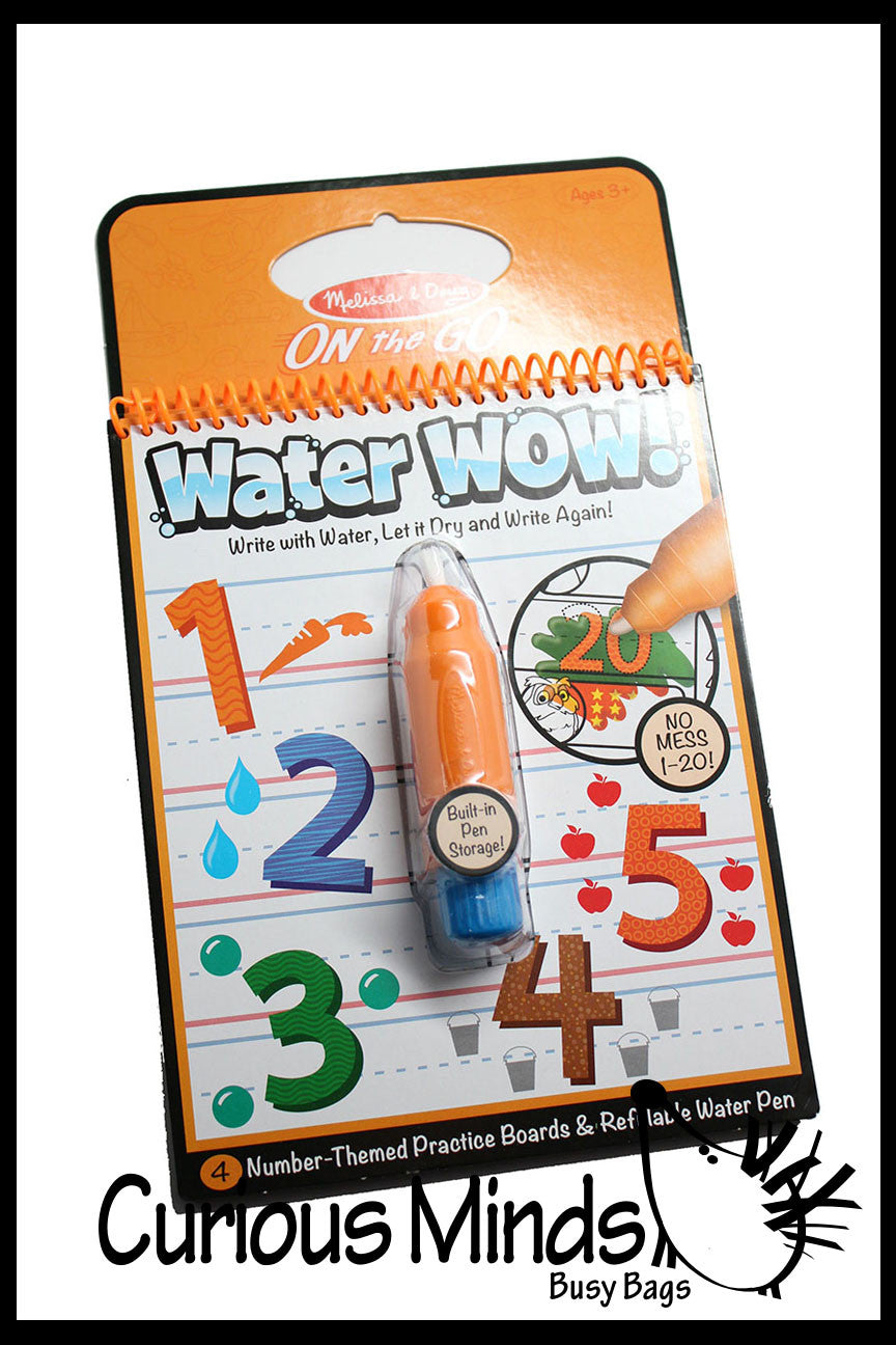 Paint with Water - Travel Activity - No Mess Toy - Numbers and ABC
