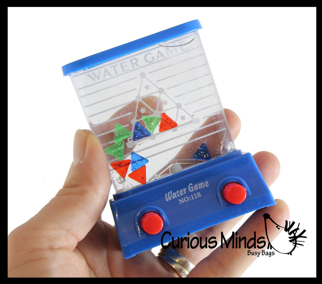 Small Water Games Triangle Challenge - Push Button to Put Triangles in Slot - Hand Held Travel Arcade Game - Party Favors