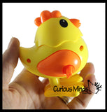 Large Wind-Up Walking Chicks -Chick that Hops Across the Floor - Easter - Chicken Lover Toy Gift - Farm Party Favor