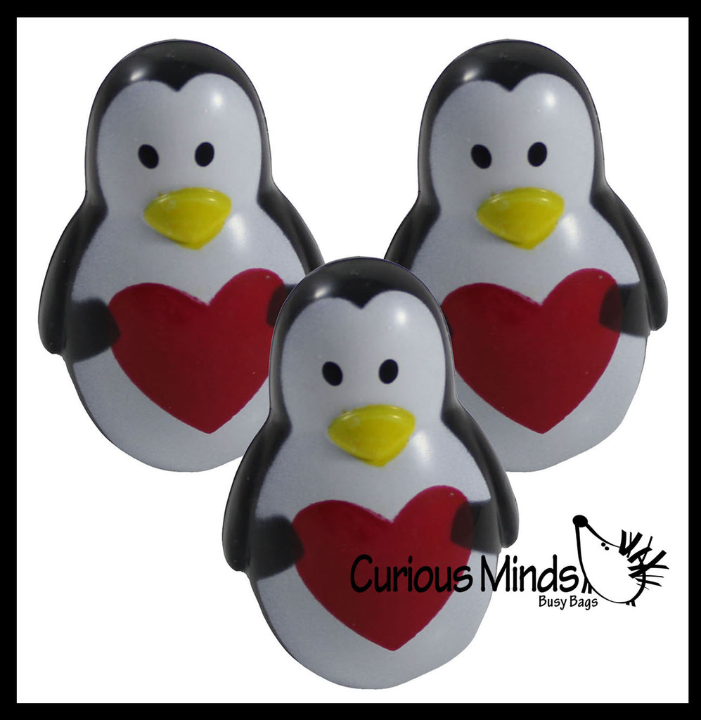Wobble Dancing Penguins Fidget Toys - Push to Watch them Move - Fun and Relaxing -  Love Valentine - Cute Valentine or Desk Fidget