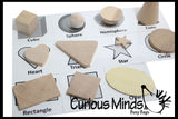 Wooden Geometric Solid Shapes Match with Matching Cards - Montessori 2 Part Card - Geometry Work