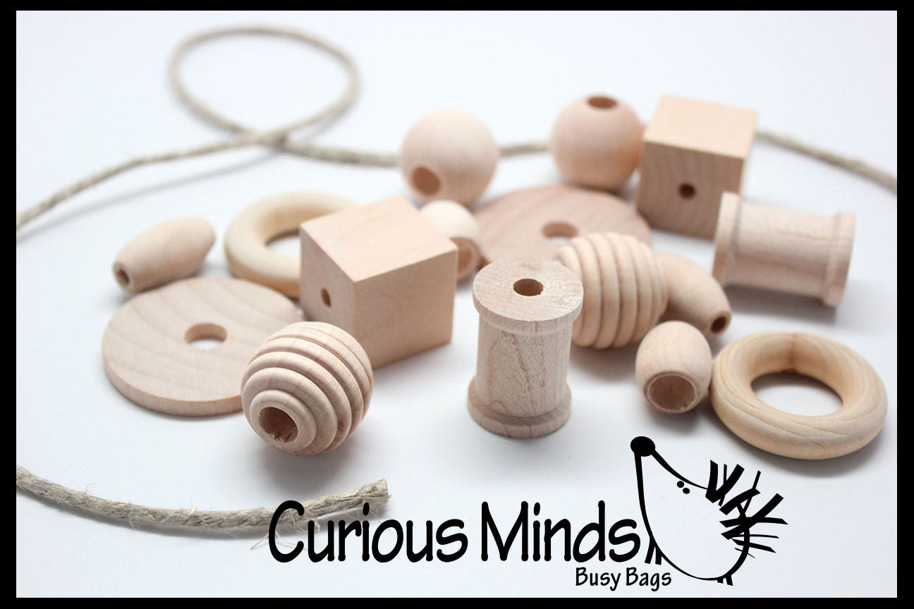 Sale Medium Large Beginner Natural Wood Beads With Thicksturdy