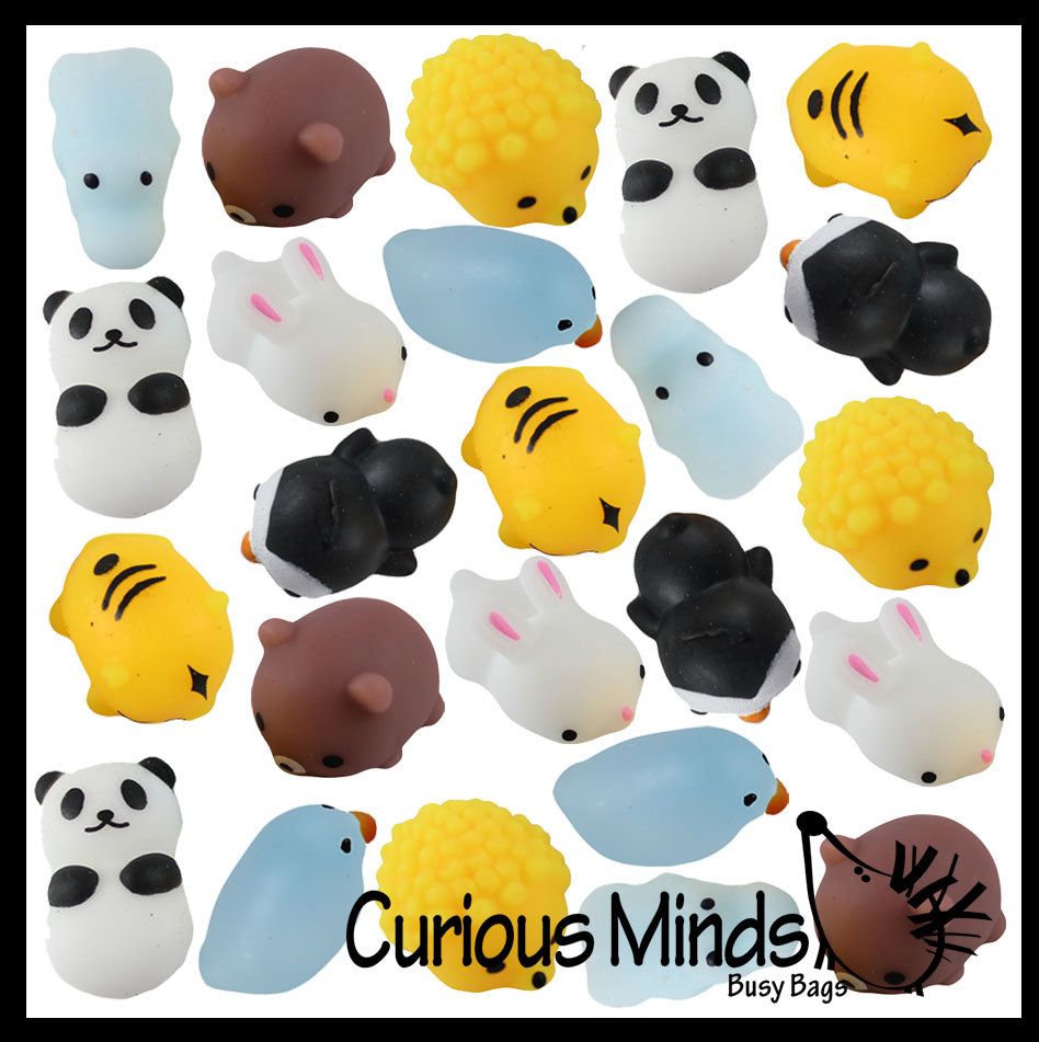 24 Mochi Animals - Woodland & Wild Safari Animal Mochi Squishy  - Adorable Cute Kawaii - Individually Wrapped Toys - Sensory, Stress, Fidget Party Favor Toy