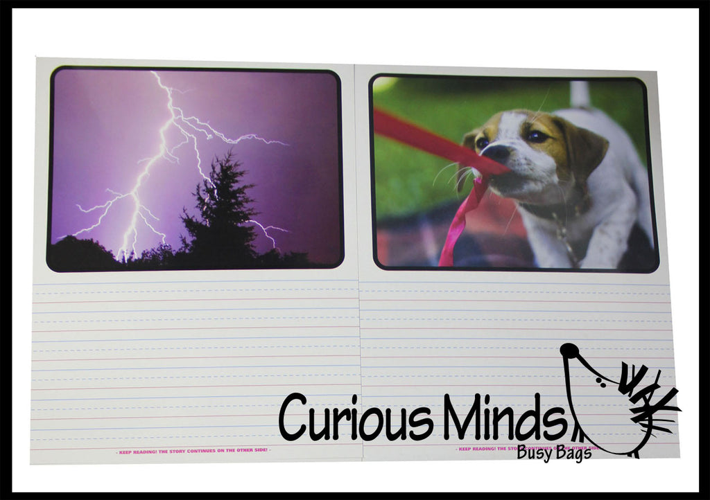 Photo Writing Prompts Dry Erase Practice Pages - Language Arts Teacher Supply Centers