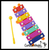 Metal Xylophone - Instrument for Kids Musical Toy - X is For Xylophone Alphabet Object