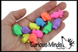 Zoo Animal Erasers - Pencil Toppers - Cute Classroom Prize - Goody Bags - School Supplies