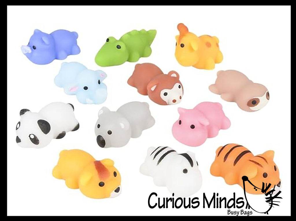 Cute Zoo Animal Mochi Squishy Animals - Kawaii -  Cute Individually Wrapped Toys - Sensory, Stress, Fidget Party Favor Toy