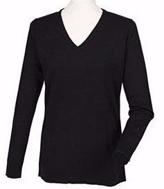 Henbury HB761 Womens Cashmere V-Neck Jumper