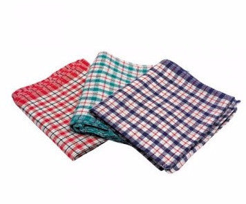 Maxima Checked Tea Towels - Pack of 10
