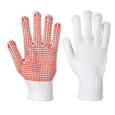 Portwest A112 Heavyweight Polka Dot PVC Gloves