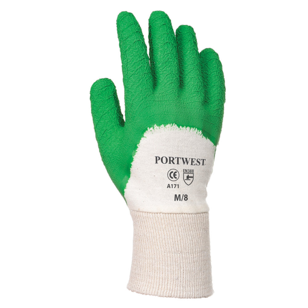 Portwest A171 Latex Open Back Crinkle Gloves