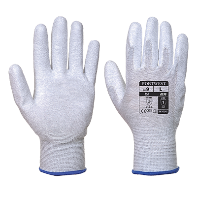 Portwest A199 Antistatic PU Palm Gloves