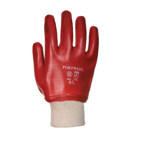 Portwest A400 PVC Knitwrist Gloves