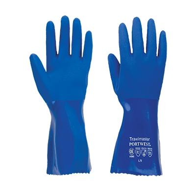 Portwest A880 Sandy Finish Trawlmaster 30cm PVC Gauntlets