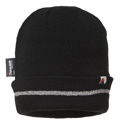 Portwest B023 Relflective Trim Knit Hat Thinsulate Lined