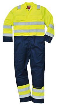 Portwest BIZ7 Hi-Vis Anti-Static Bizflame Pro Coverall