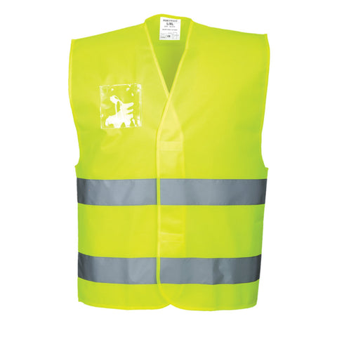 Portwest C475 Hi-Vis Vest with Dual ID Holder