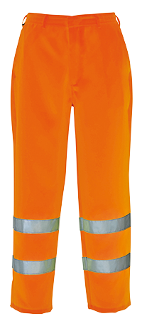 Portwest E041 - Hi-Vis Poly-cotton Trousers