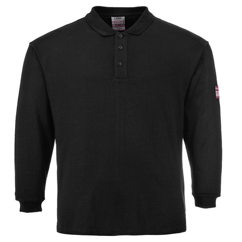 Portwest FR10 Flame Resistant Anti-Static Long Sleeve Polo Shirt