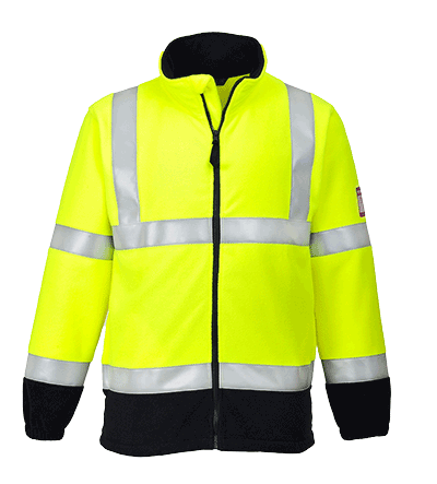 Portwest FR31 Flame Resistant Anti-Static Hi-Vis Fleece