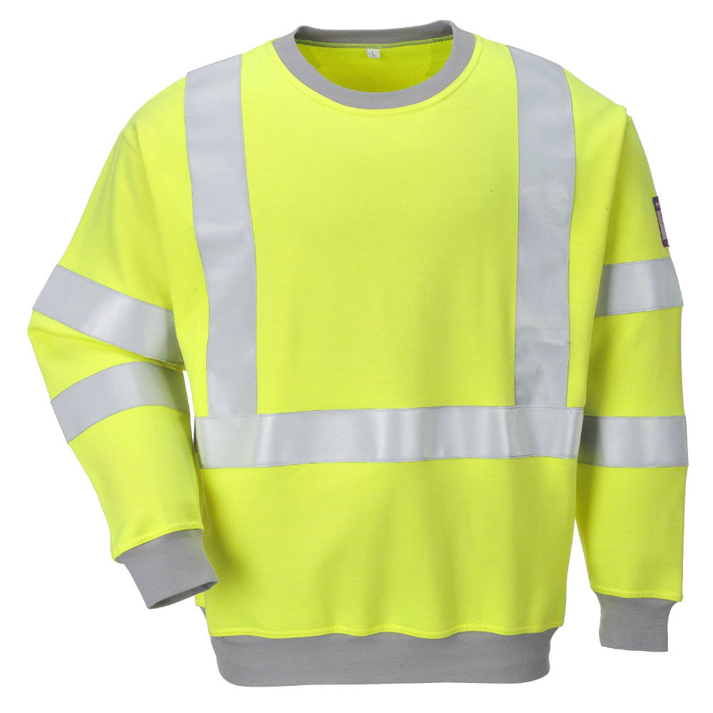 Portwest FR72 Flame Resistant Anti-Static Hi-Vis Sweatshirt