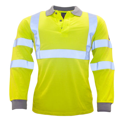 Portwest FR77 Flame Resistant Anti-Static Hi-Vis Long Sleeve Shirt