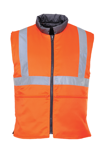 Portwest RT44 Hi-Vis Reversible Bodywarmer