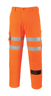 Portwest RT46 Hi-Vis Rail Combat Trousers