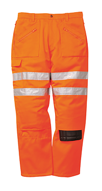 Portwest RT47 Hi-Vis Rail Action Trousers