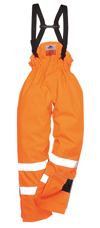 Portwest S780 Bizflame Rain Unlined Hi-Vis Anti-Static FR Trouser